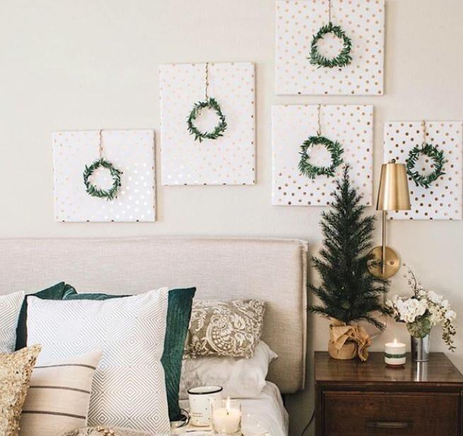 christmas decor trends wrapped art