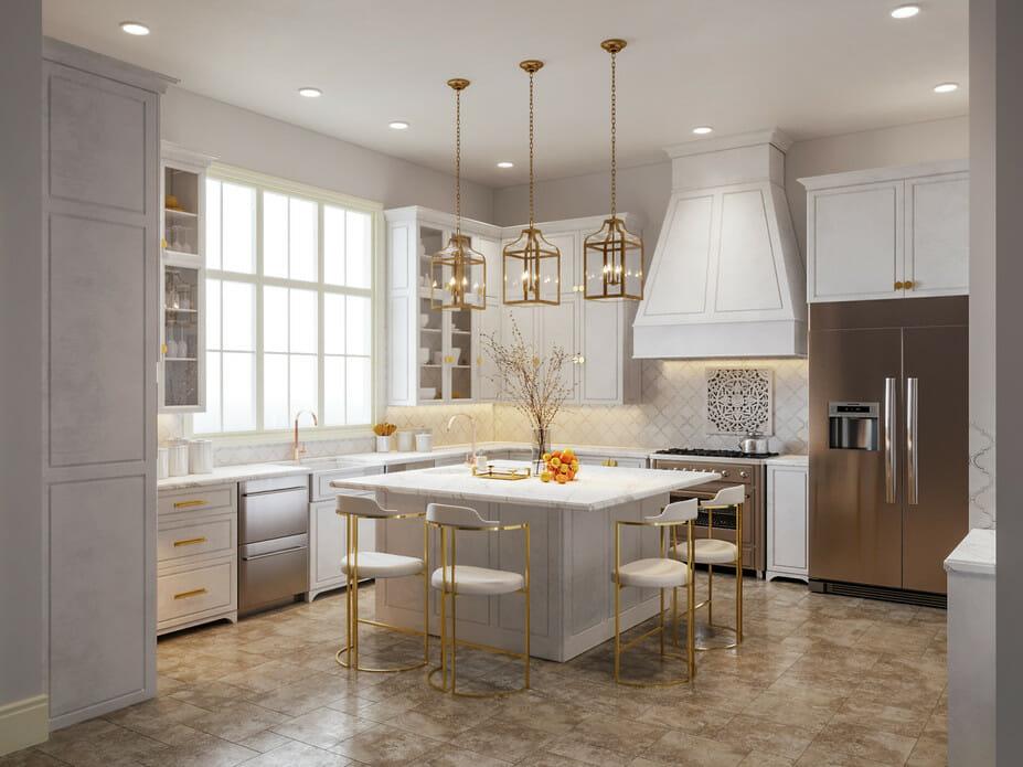 Kitchen design trends 2021 - layered lighting