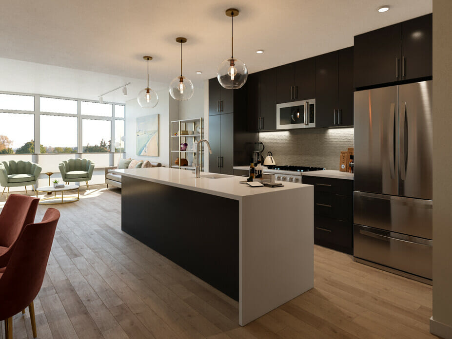 Kitchen design trends - contemporary open floor plans