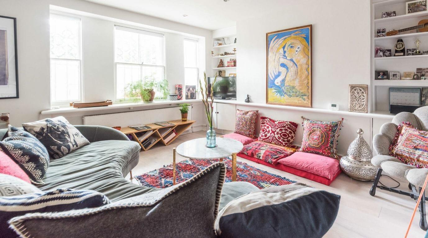 bohemian sitting room