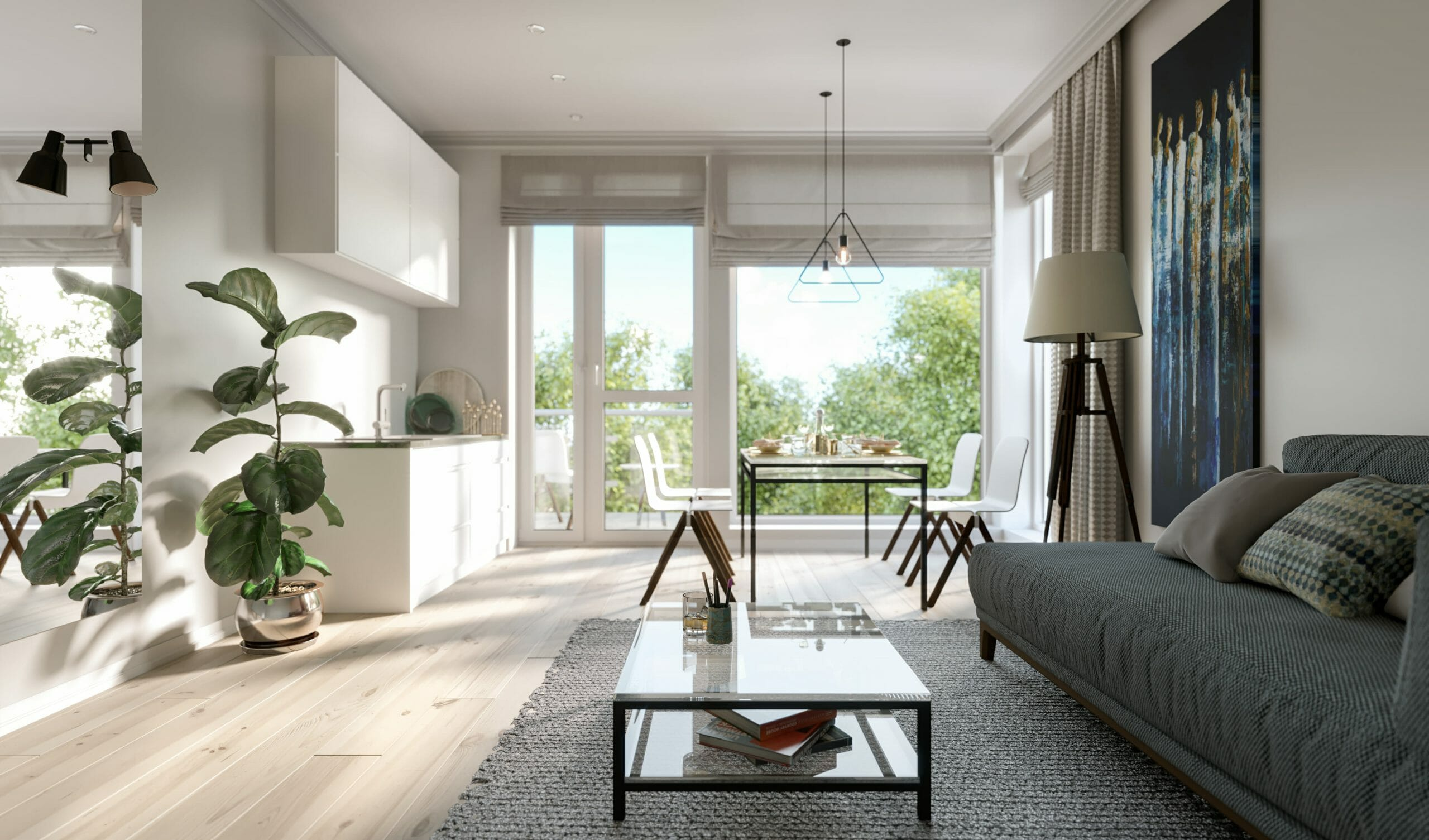 modern studio apartment layout ideas