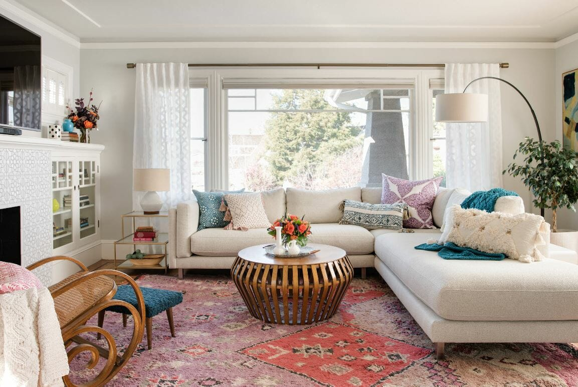 vintage bohemian inspired living area