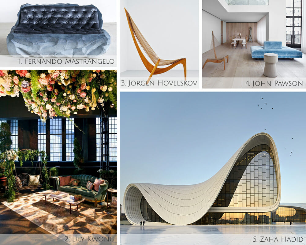 Iconic contemporary interior design artists and architects