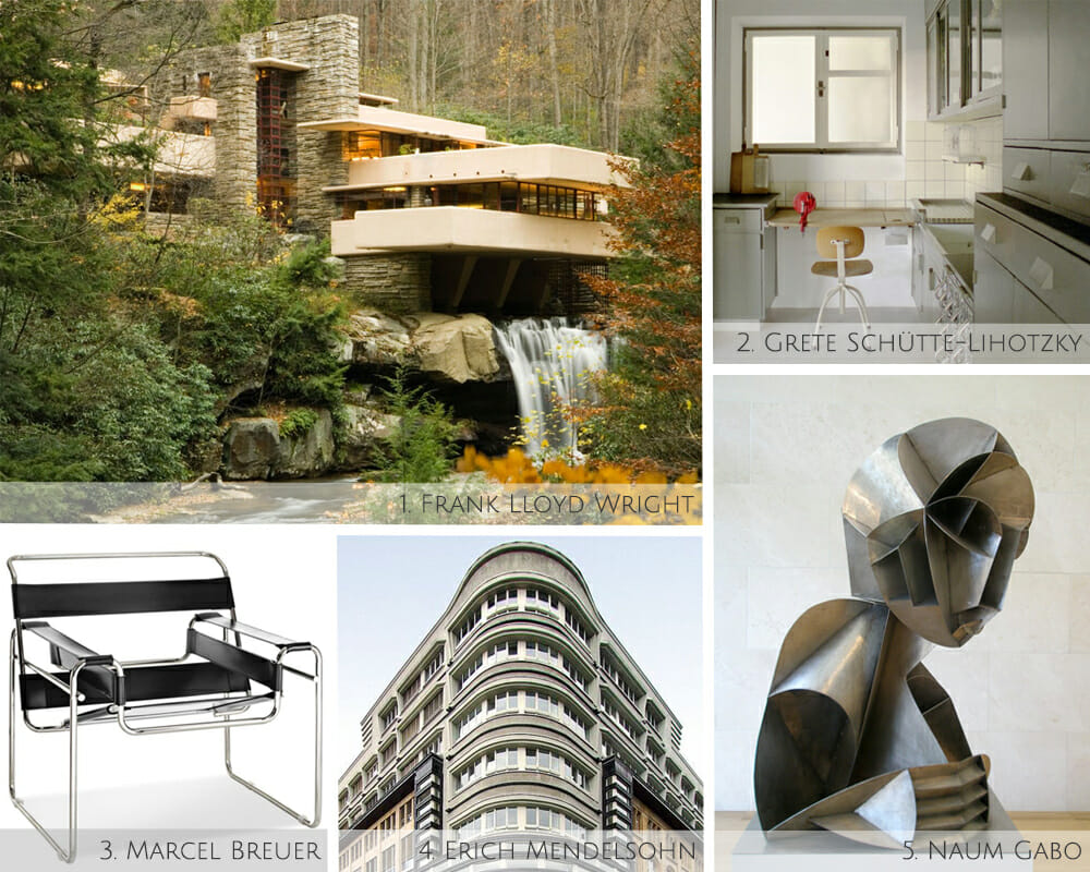 Iconic modern interior designers, architects and artists