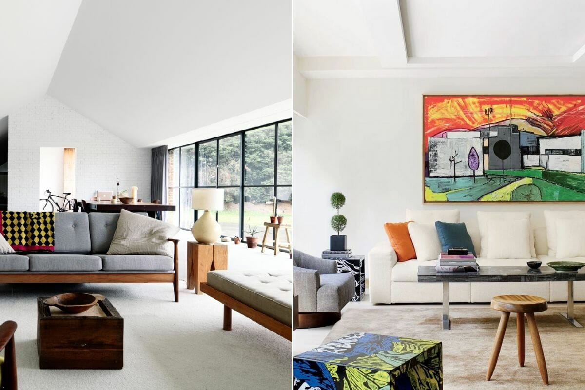 Modern contemporary interior design living rooms