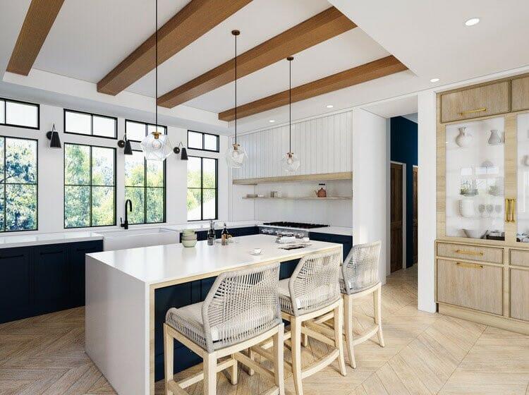 Neutral contemporary kitchen design