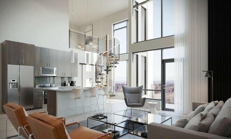 Neutral modern interior style