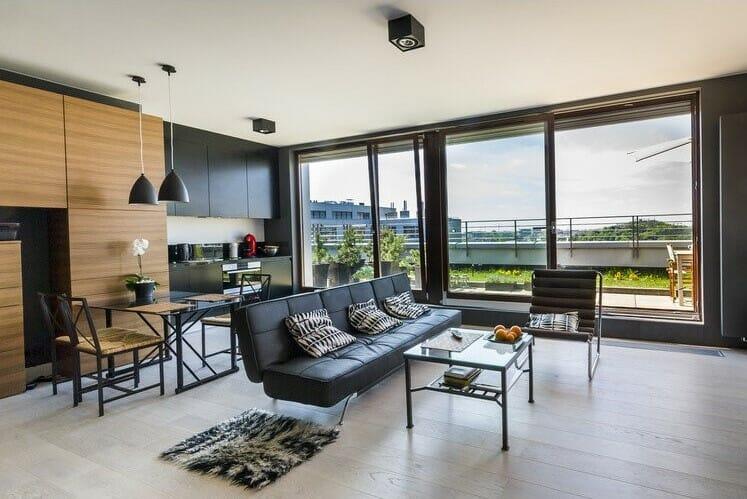 monochromatic modern interior