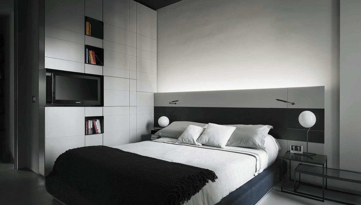 Sleek Contemporary Bedroom by Decorilla interior designer Roberto D.