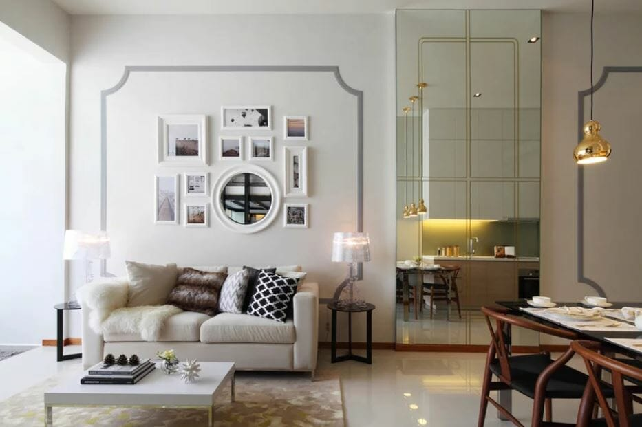 Glamorous modern apartment design with online interior design ideas by Joanna NG