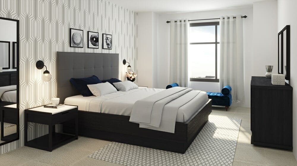 Luxury bedroom with modern apartment decor ideas by Tiara