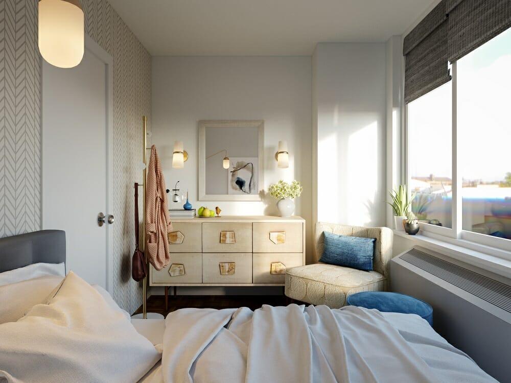 Modern apartment decor on a budget by online interior design expert Tiara M.