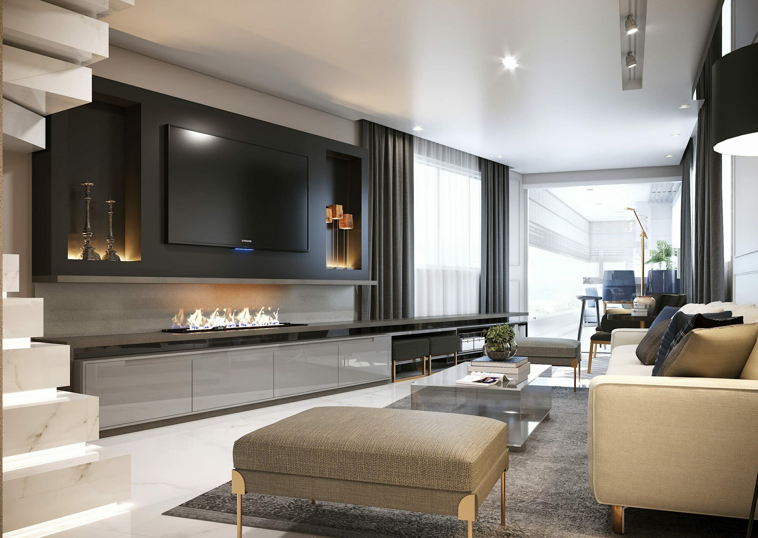 Sleek and transitional modern apartment design