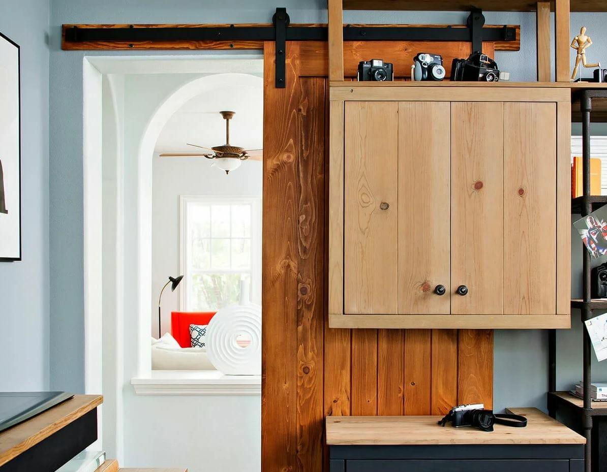 Small modern apartment design idea - sliding doors - by Sonia C