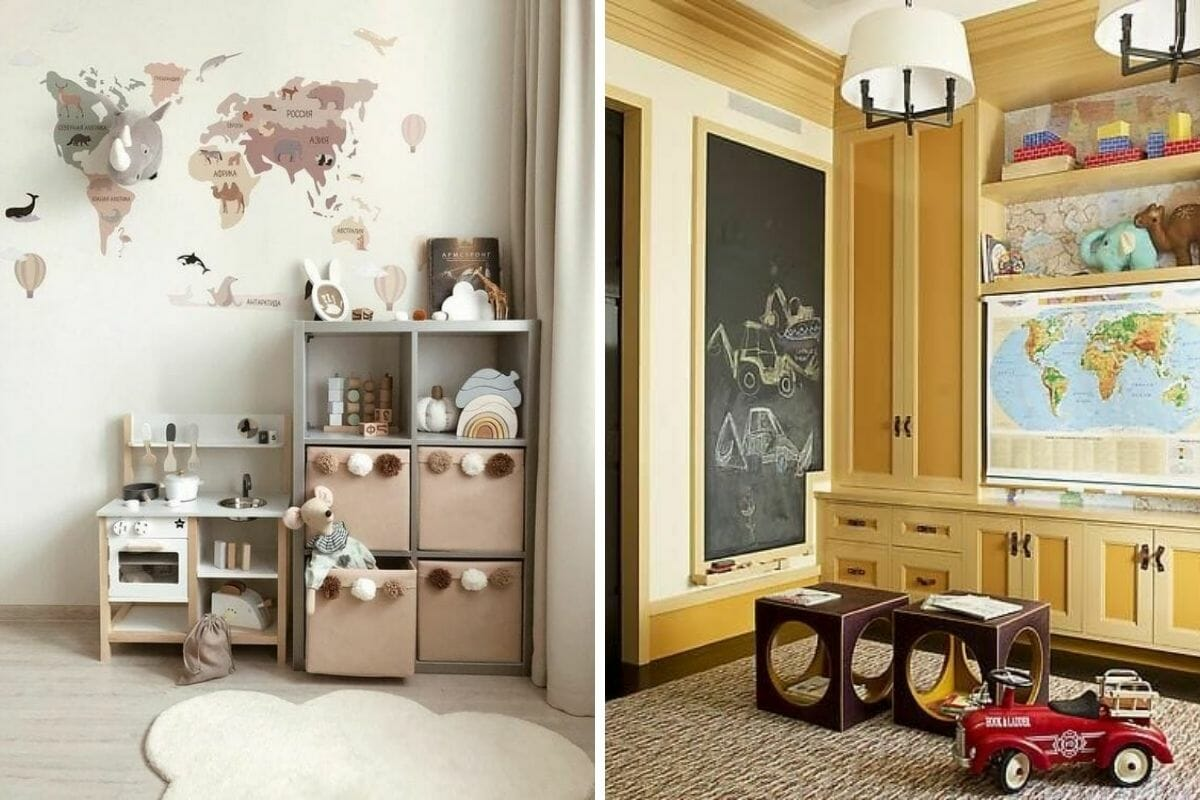 Educational Kid's bedroom interior design