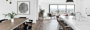 Scandinavian decor for open living