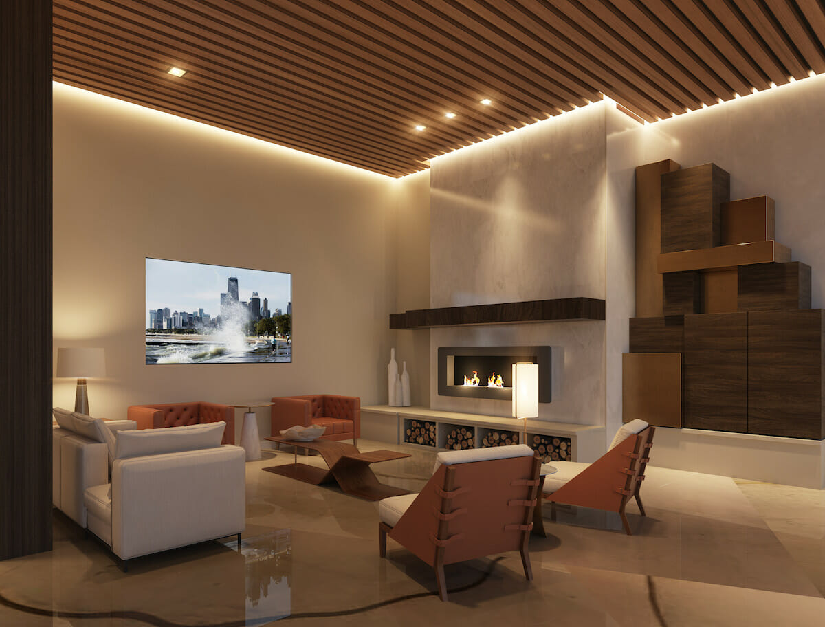 Transitional luxury modern apartment design
