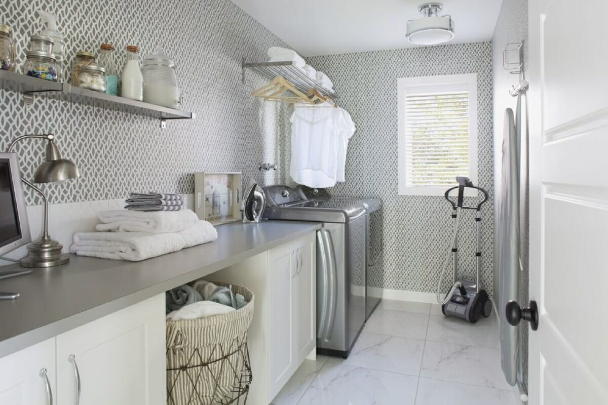 Hanging clothes laundry room ideas