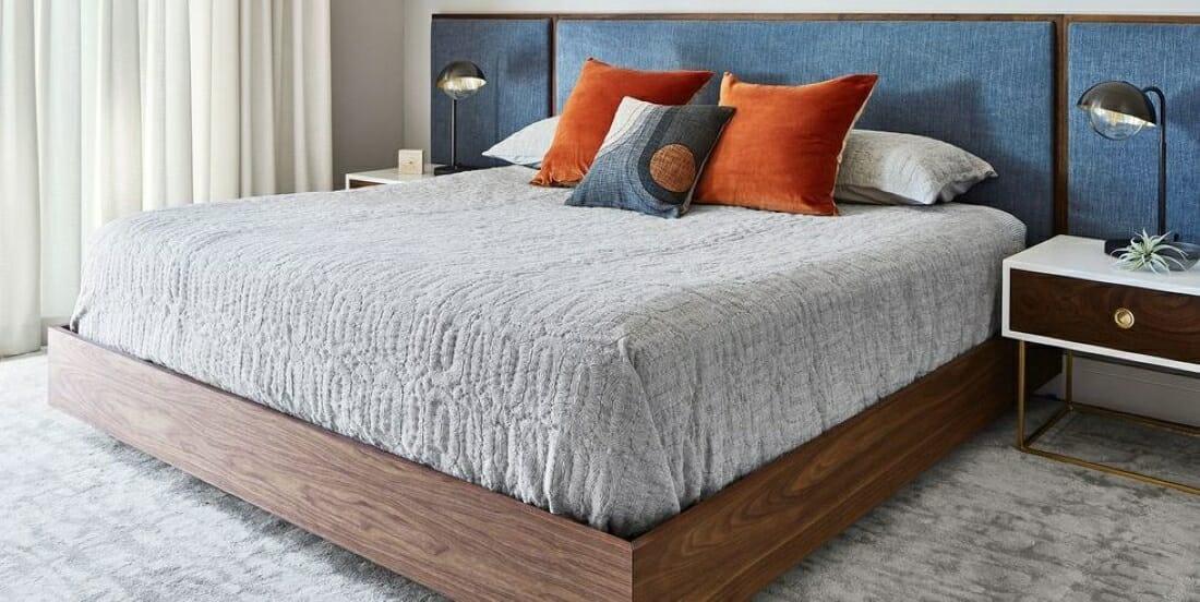 Mid-century master bedroom design