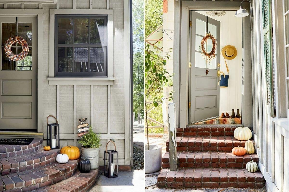 Simple and elegant Thanksgiving wreath decorating ideas