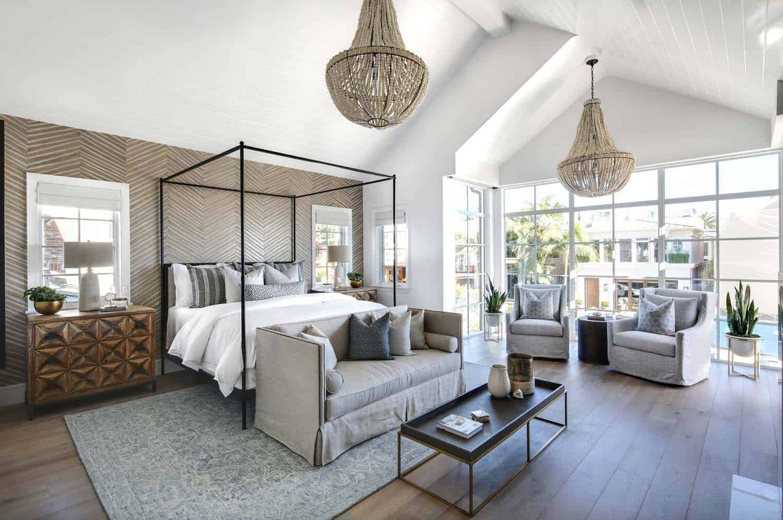 coastal chic bedroom modern