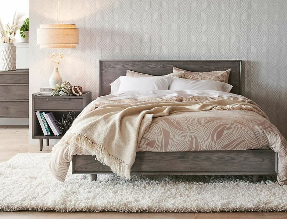 Crate and Barrel Cyber Monday bed deals for a romantic wintery bedroom