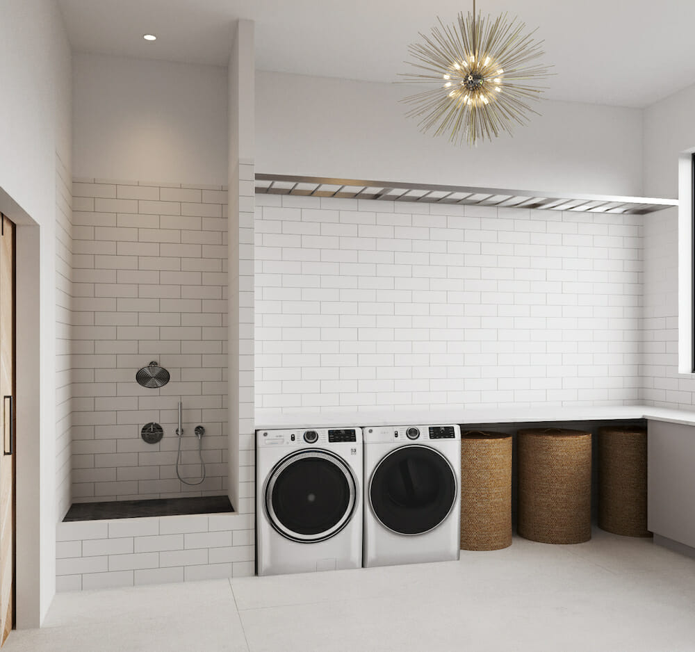 Laundry room with dog wash Laura A
