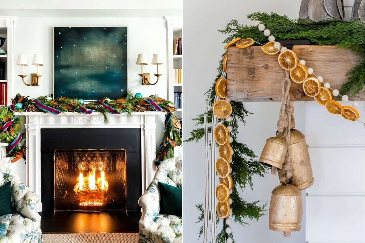 Alternative Christmas decorating ideas for a mantle