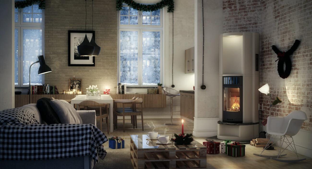 Cozy interior design presents
