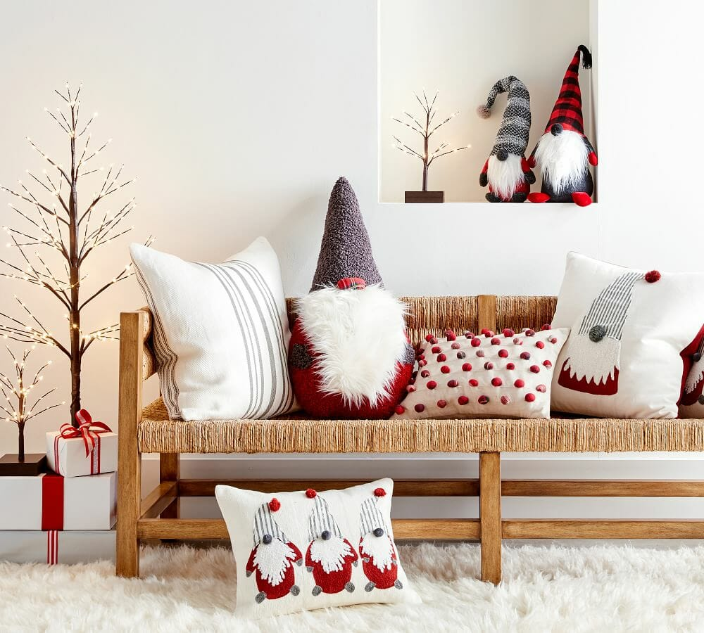 How to decorate for christmas with festive cushions PB