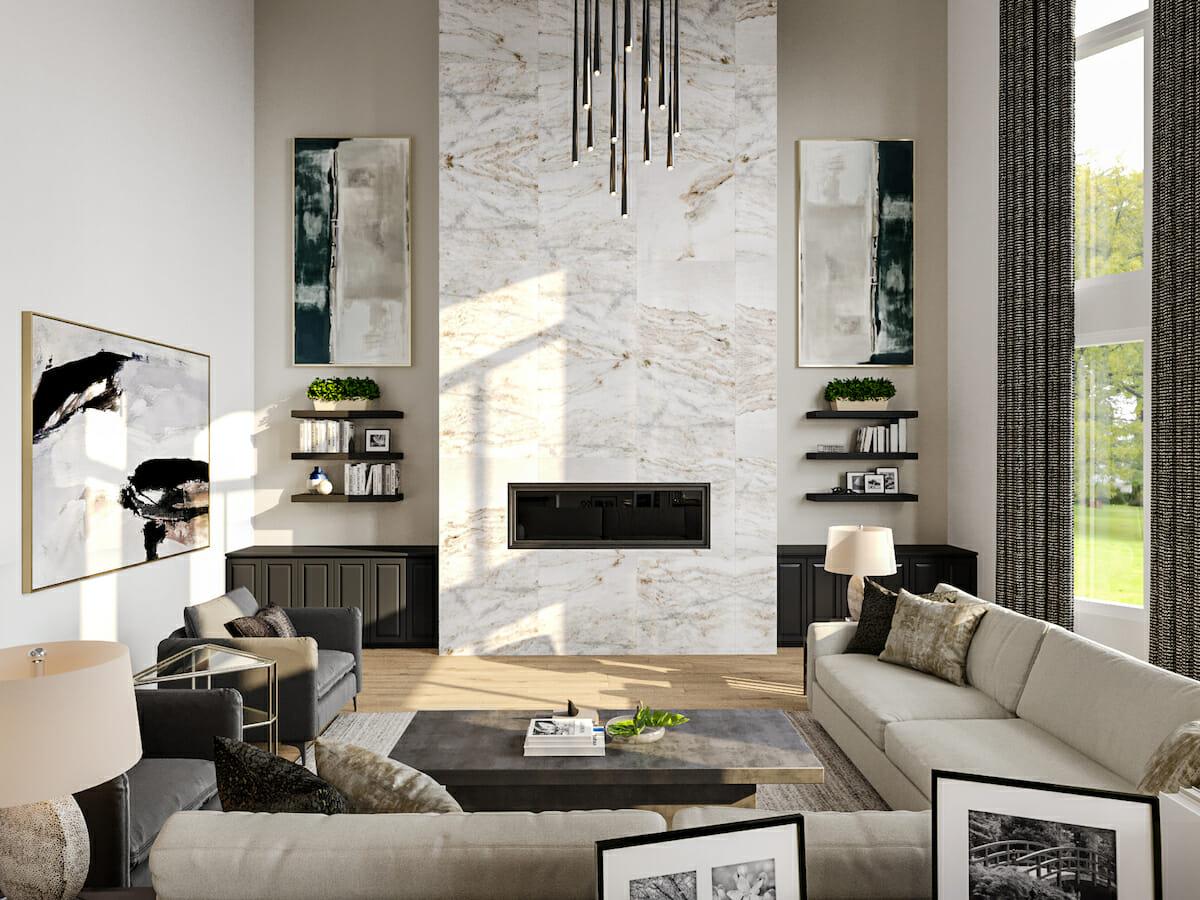 Online interior design gift certificate results by Decorilla designer Berkeley H.