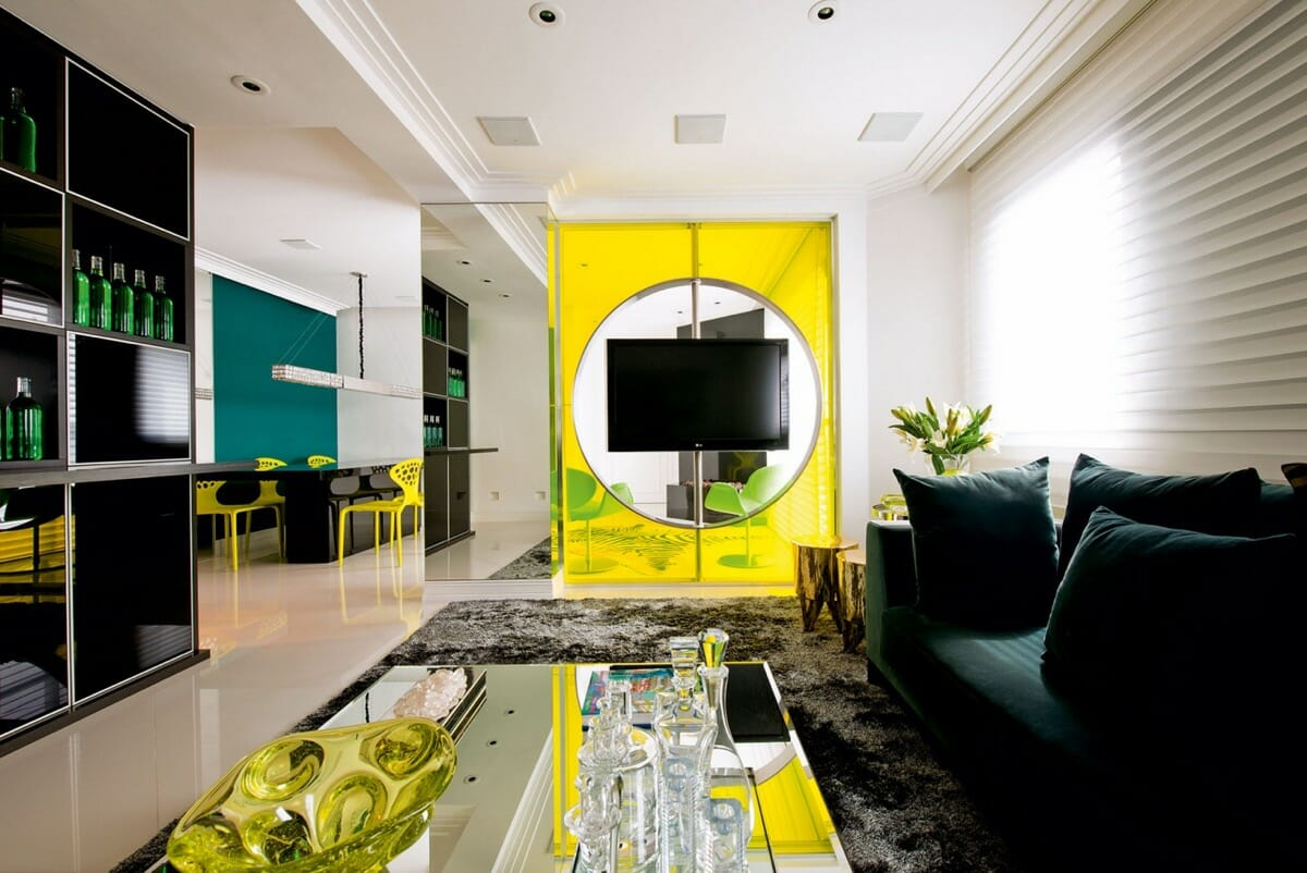 Pantone 2021 yellow feature wall
