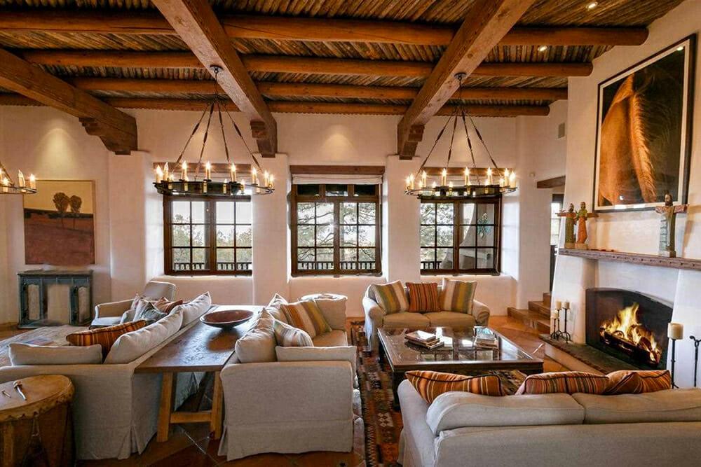 Adobe seating area by top phoenix interior designers
