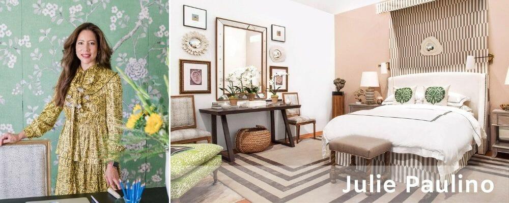 Arty bedroom by Julie Paulino Columbus interior design