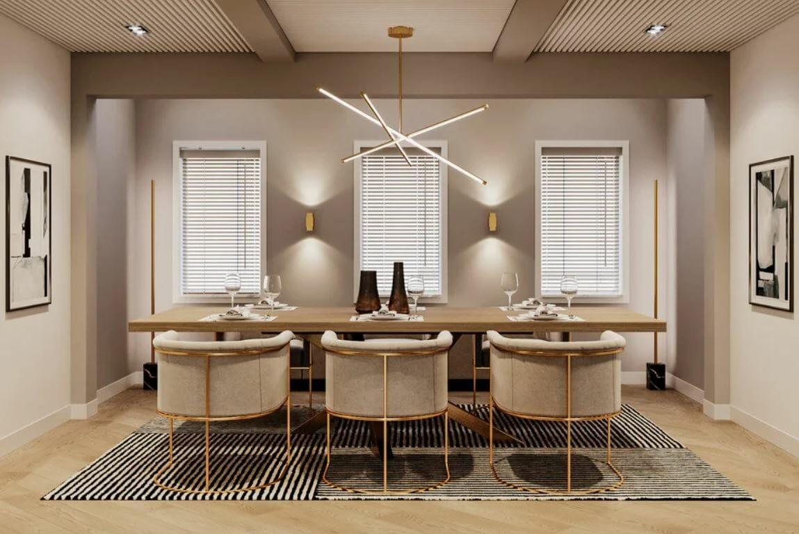 Contemporary decor for a dining room makeover