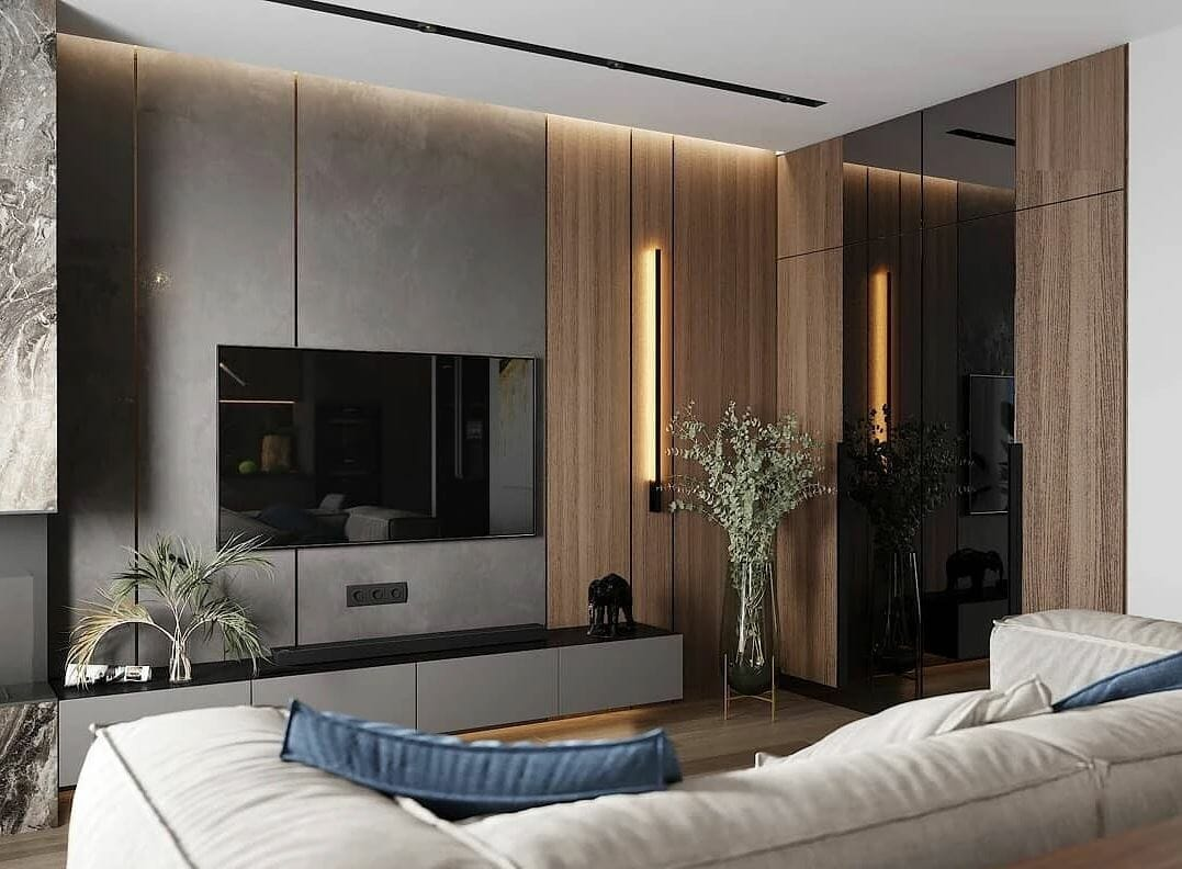 Contemporary house remodel lounge