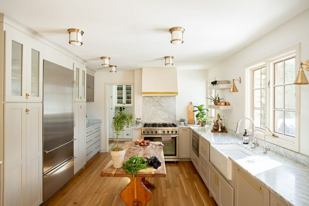 Farm meets luxury kitchen design by one of the top interior decorators in Columbus OH Julie Paulino