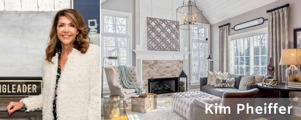 Great room design by Kim Pheiffer one of the top interiro decorators in Columbus Ohio
