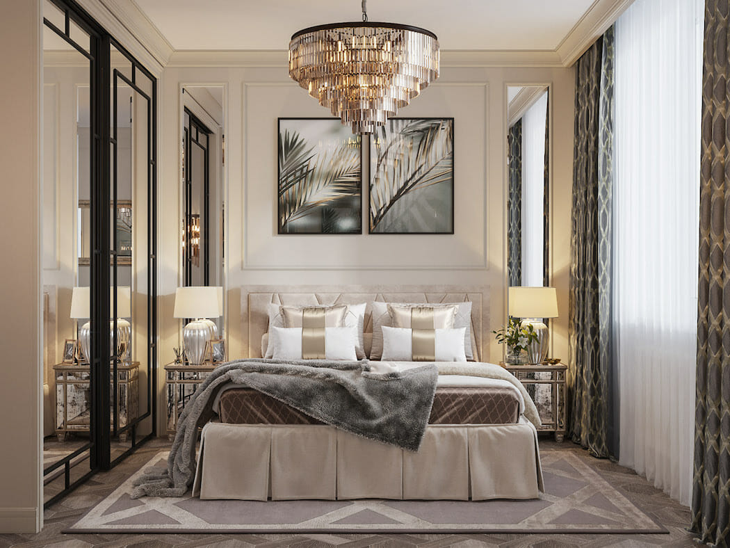 How can I make my bedroom luxurious