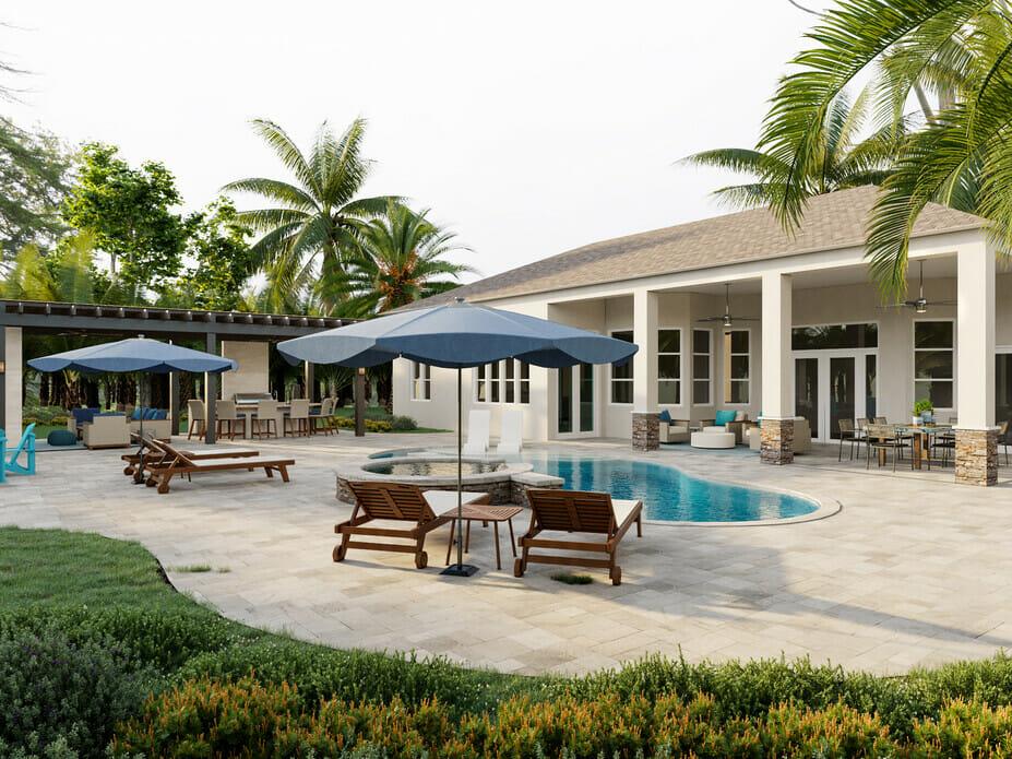 How do you build privacy around a pool