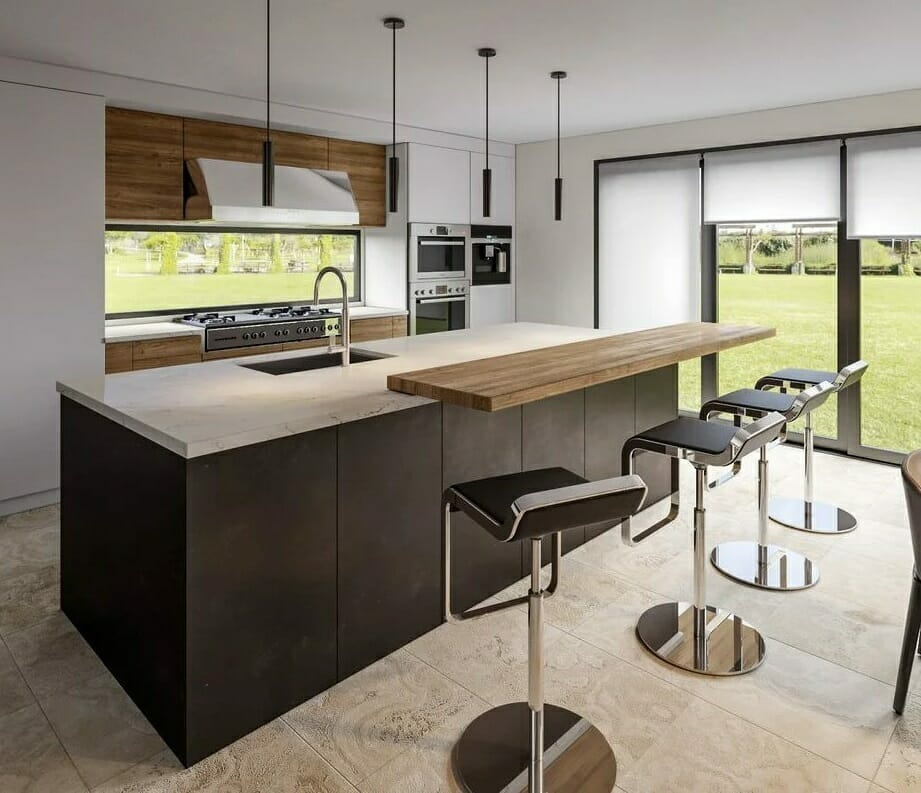 Kitchen backsplash ideas - backsplash with a view
