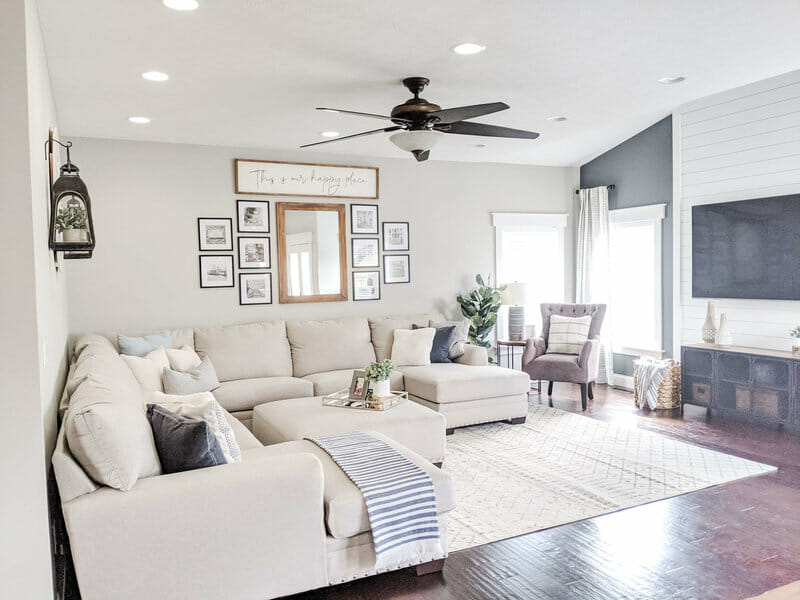 Living room by interior decorators in Columbus OH Peace and Pine