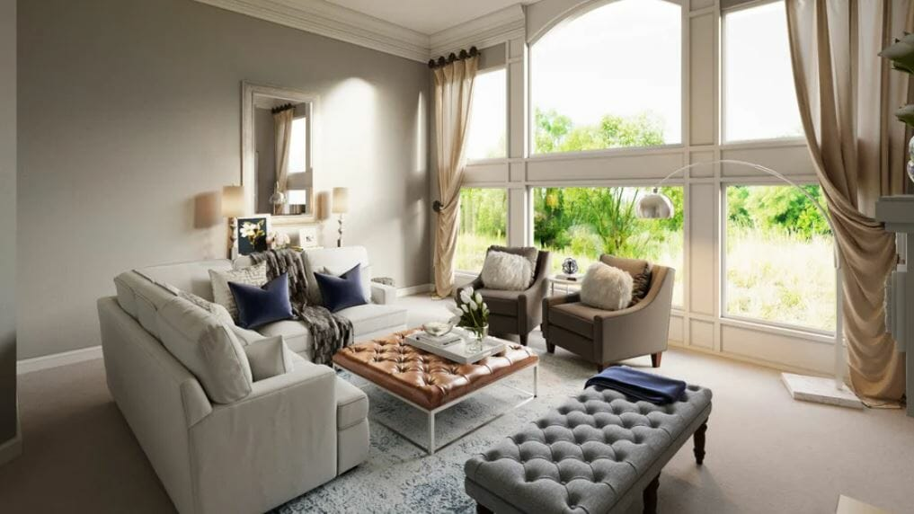 Luxurious living room with great room ideas