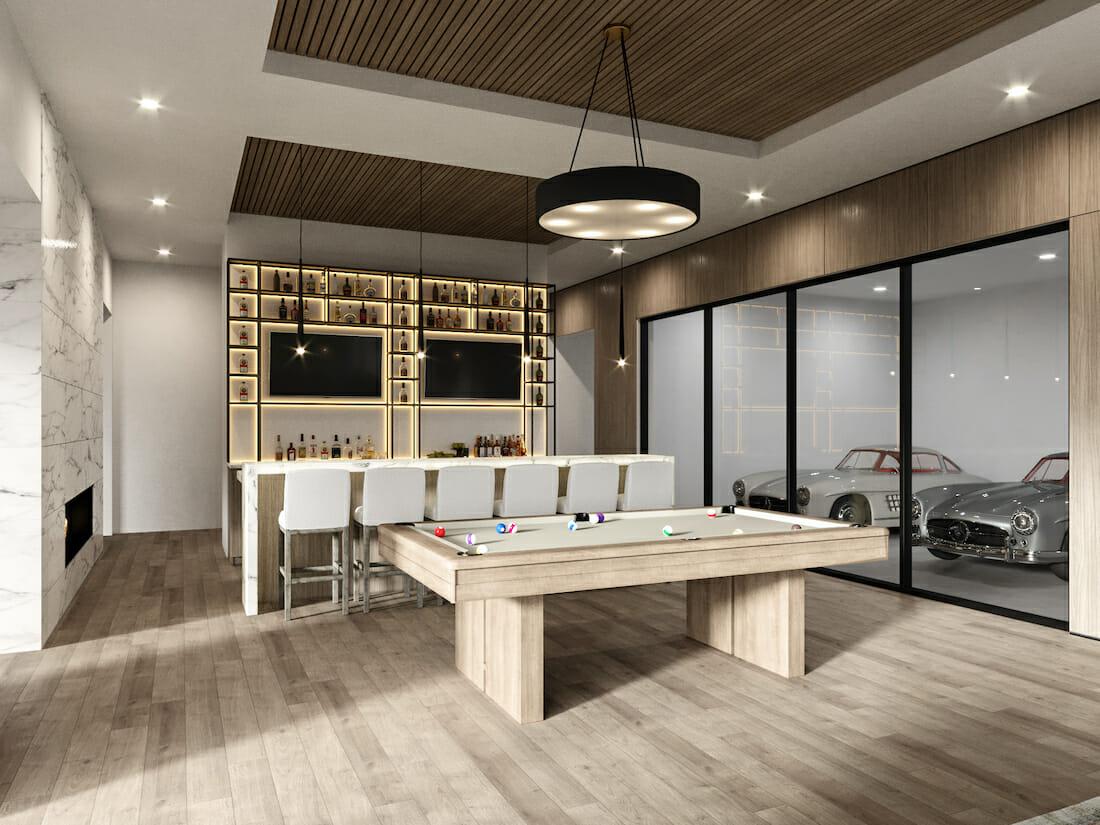Luxury home bar design