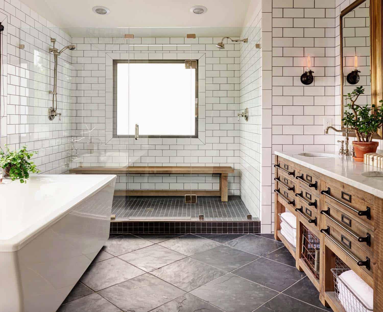 Modern farmhouse decor for bathroom
