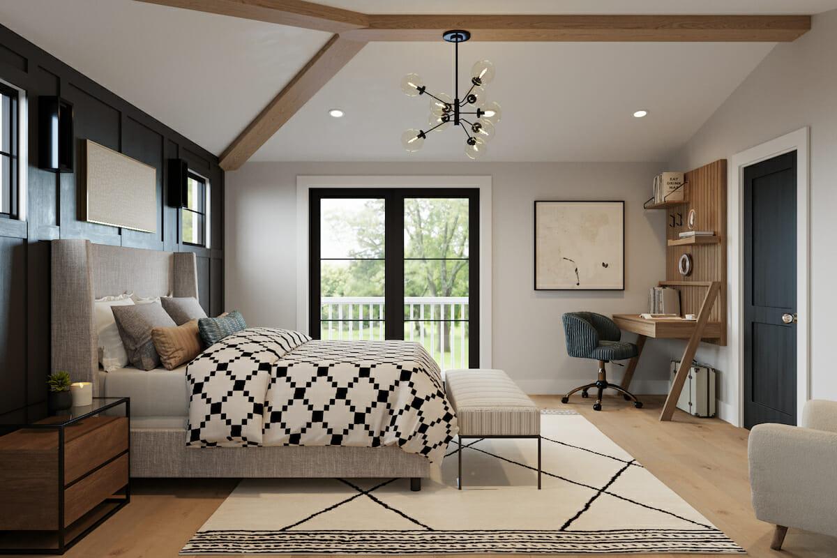 Modern farmhouse master bedroom design