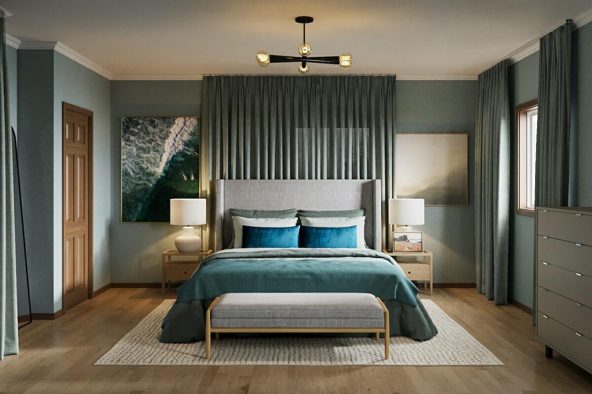 Serene seafoam green, calming colors for master bedrooms