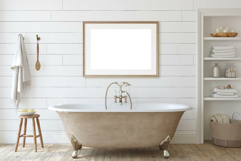 Simple bathroom in modern farmhouse decor