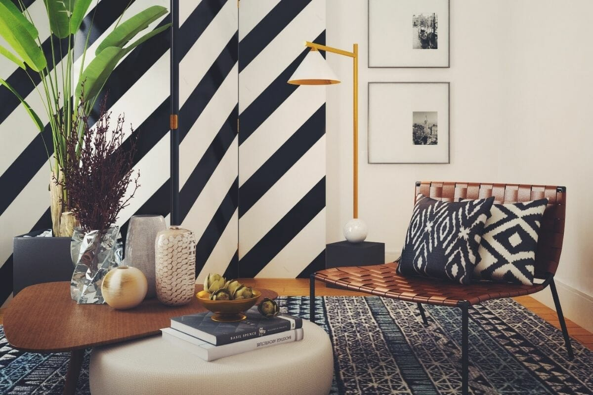 Eclectic home decor for a casual lounge - Ibrahim