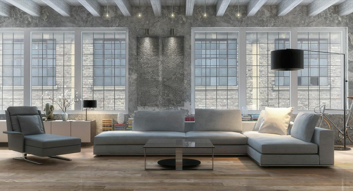 Industrial living room decor